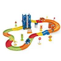 Track Auto Eisenbahn Rennen Auto jungen Spielzeug Elektronische Track Spielen Set-Licht DIY Spielen Set Biegen Flexible spielzeug für kinder