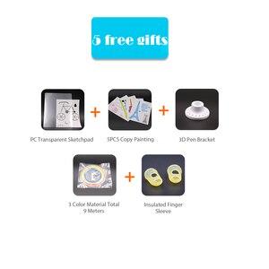 Image 2 - מקורי Myriwell 3D הדפסת pen1.75mm ABS חכם 3d ציור עטים + משלוח נימה + מחשב שקוף רך ציור לוח 5 משלוח מתנות