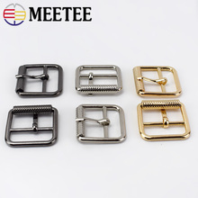 Meetee 5Pcs 25mm Pin Belt Buckles For Bags Straps Rectangle Ring Adjust Roller Snap DIY Leather Sewing Accessories