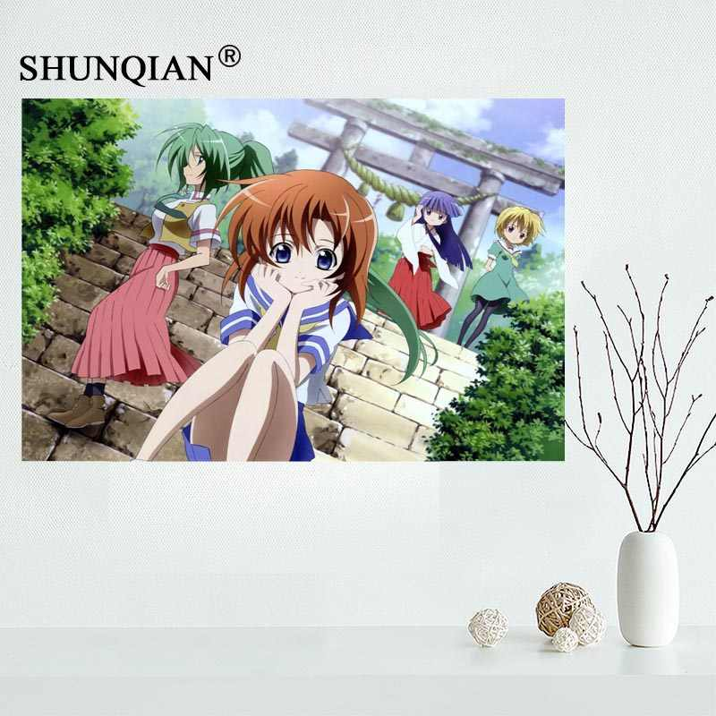 New Higurashi No Naku Koro Ni Canvas Cloth Poster For Home Decor Painting Art Custom Print Your Design For Friends Aliexpress