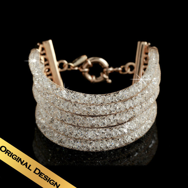 Special Gorgeous Shinning Jewelry Fine Copper Drill Charm Bracelets Free Shipping Time Walk SL13A0204
