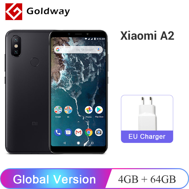 """Versión Global Xiaomi mi A2 4 GB 64 GB 5,99 """"18:9 Pantalla Completa Snapdragon 660 Octa Core 20.0MP AI teléfono Móvil Android con doble cámara"""