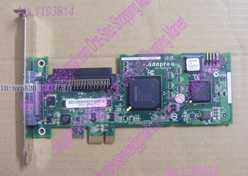 ФОТО Original 29320LPE PCI-E X1 Interface SCSI Hard Disk Array Card