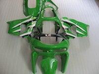 ABS motorcycle fairing kit for Kawasaki ZX6R 1998 1999 green black white Ninja 636 ZX 6R 98 99 fairings set PP13