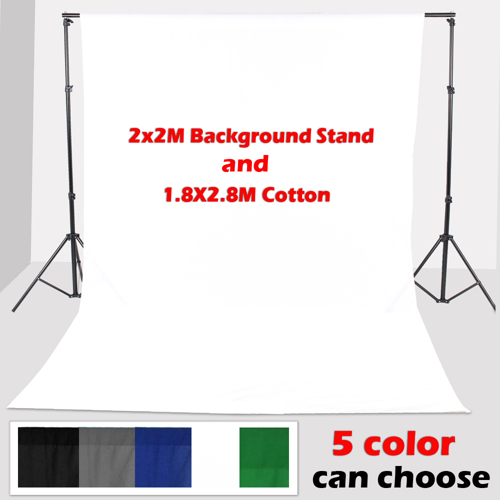 ASHANKS Camara Fotografica Backdrop stand Support 2*2m With1.8*2.8M Photo Lighting Studio Screen White Background Backdrop Cloth ashanks photography backdrops white screen 3 6m photo wedding background for studio 10ft 19ft backdrop for camera fotografica