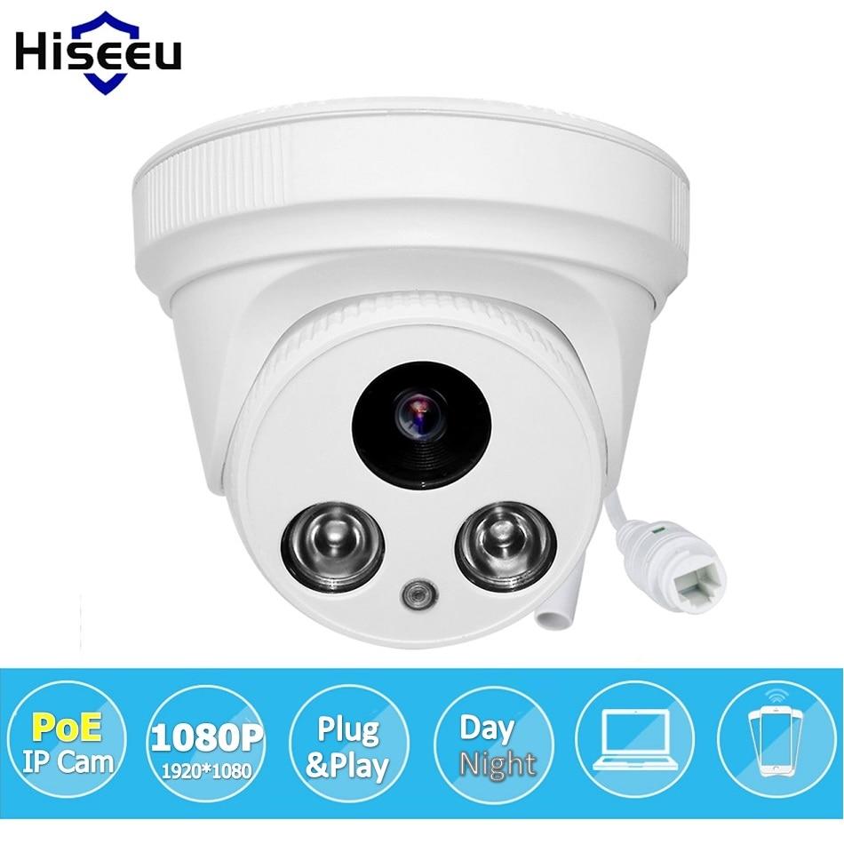 ФОТО IEE802.3af 48V PoE IP Camera Full HD 1080P 2MP IP Camera  Dome Camer CMOS Sensor HI3516C Indoor Camera IP 2 Megapixel Camera