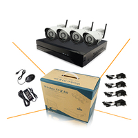 4ch 960p 1 3mp Wireless IP Camera Kit With 8ch NVR Onvif And Private Protocol CCTV