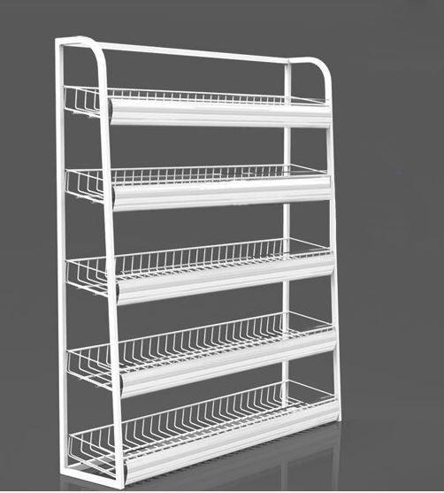 Mesa de caixa cesta de Arame acessórios Titulares De Armazenamento & Racks prateleira de supermercado cremalheira de exposição de mercadoria