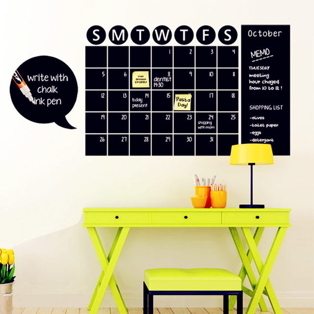 Online Shop Chalkboard Calendar Decals Chalk Board Wall Sticker Home ...