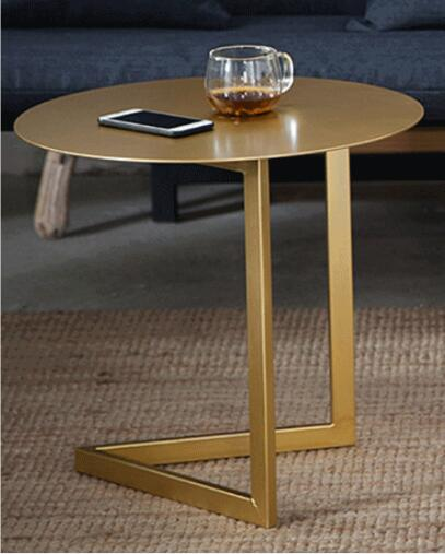 50*45cm Creative Round Coffee Table Iron Tea table Side table american art hardware toughened glass tea table creative tea table rectangular coffee table