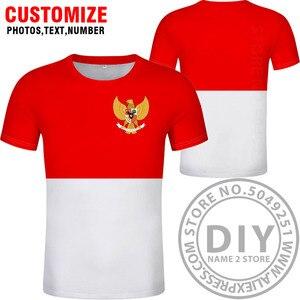Image 2 - אינדונזיה t חולצה diy משלוח תפור לפי מידה שם מספר idn חולצה האומה דגל מזהה המדינה כיה אינדונזית הדפסת תמונה 0 בגדים