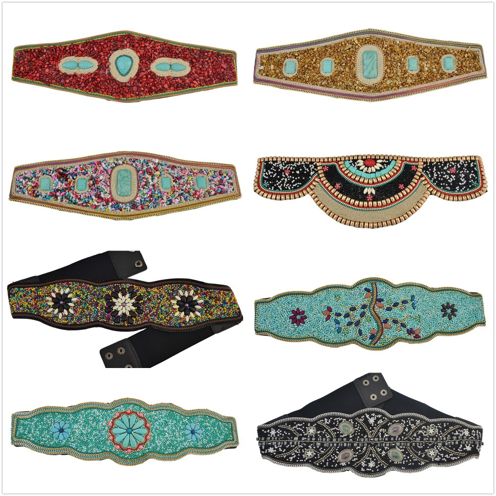 12 Styles Bohemian Charm Ethnic Retro High Quality Adjustable Belt Waist Belly Chain Inlay Natural Stone Body Jewelry Women 2018