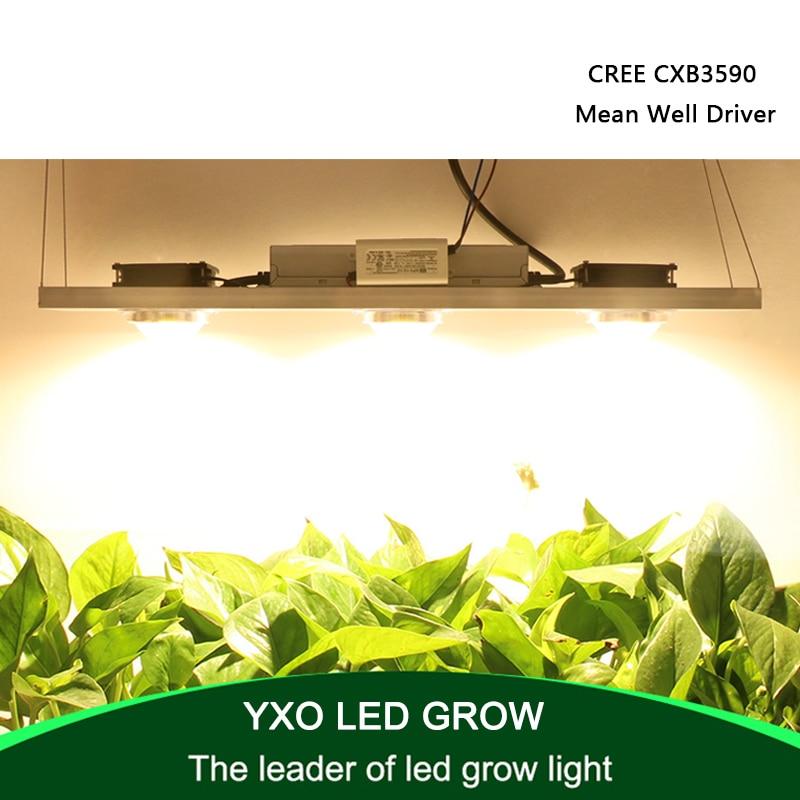 CREE CXB3590 300W COB LED Grow Light Full Spectrum LED Lamp 38000LM = HPS 600W Growing Lamp Indoor Plant Growth Panel Lighting