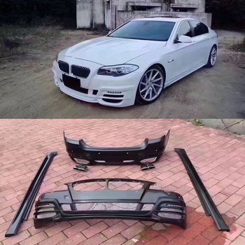 F10 F18 5 Series Car body kit front bumper Rear bumper side skirts Exhaust pipe For BMW F10 F18 WALD body kit 11-15
