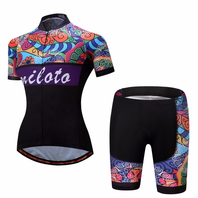 Women s Bicycle Clothing Set Short Sleeve Race Fit Cycling Jersey   Mountain  Bike Shorts Kit Ladies Cycling Set Reflective 08baab5f1