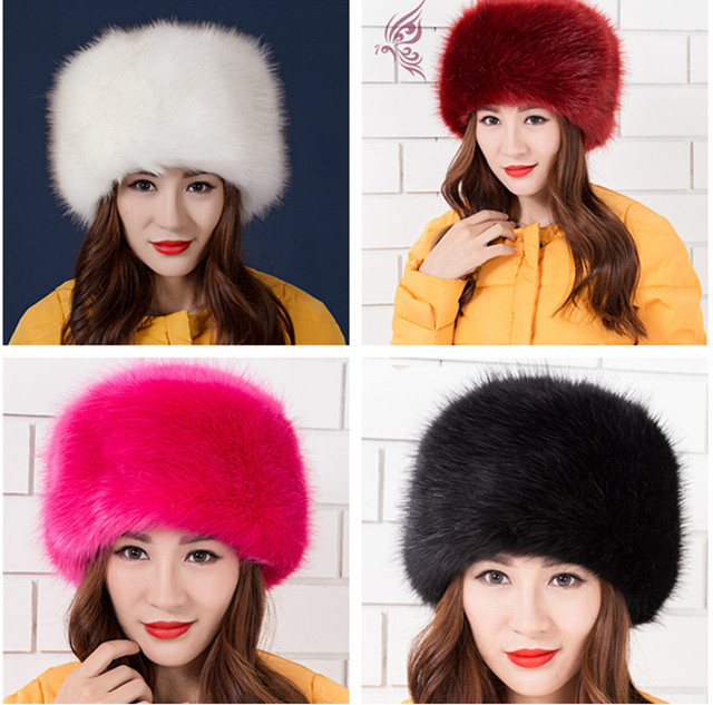 b1f49cd37b6 Fashion men women s faux fur hat thicken warm hat ear protector cap fox fur  Raccoon fur
