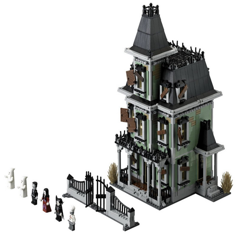 16007 LEPIN Monster Warrior Fighters Haunted House Model Building Blocks Enlighten Figure Toys For Children Compatible Legoe in stock new lepin 16007 2141pcs monster fighter the haunted house model set building kits model compatible with10228