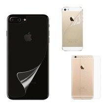Прозрачная Матовая Глянцевая защитная пленка, наклейка для iphone 5 5S SE 6 6S 7 8 Plus 11 Pro X XR XS 11pro Max, задняя защитная пленка