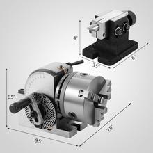 Высококачественная прочная BS 0 прецизионная разделительная головка с 5 дюймовым 3 кулачковым патроном и задней частью