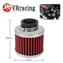 VR RACING-Авто воздушный фильтр высота 85 мм, шея ID: 35 мм Автомобильный конус холодного воздуха впускной фильтр турбо вентиляционный Картер Сапун VR-AIT22
