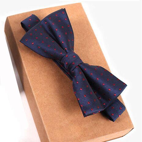 Дизайнерский галстук-бабочка, высокое качество, мода, мужская рубашка, аксессуары, темно-синий, в горошек, галстук-бабочка для свадьбы, для мужчин,, вечерние, деловые, официальные - Цвет: bow tie 7