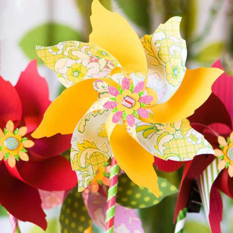 Металлические режущие штампы высечки 3D ветряная мельница цветок Спиннер DIY скрапбук карты вертушка веер вечерние трафареты для тиснения папки шаблон