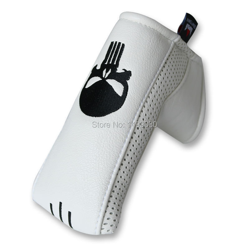 Craftsman Putter Cover + Golf Ball Marker Skull Golf Putter Cover Headcover With Magnetic Closure Blade Sytle