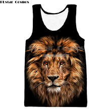 PLstar Cosmos Tank Top Lion Animal Style New  Men Women 3d full print Vest style Tank Tops drop shipping