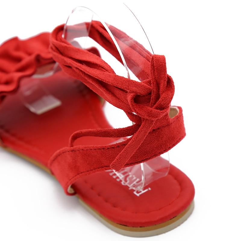 HTB1wlYLpIyYBuNkSnfoq6AWgVXap Plus Size Women's Sandal Ruffles Shoes Woman Cross Bandage Sandals Summer Shoes Flats Lace-up Ankle Strap Sandalias Mujer 2018
