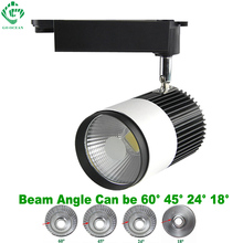 LED Track Light 20W COB Rail Lights Spotlight For Shoe Clothes Track Lighting 110V 120V 220V 230V 240V Replace 200W Halogen Lamp стоимость