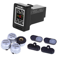 CAREUD U912 Auto Wireless TPMS Tire Pressure Monitoring System With 4 External Internal Sensors LCD Display