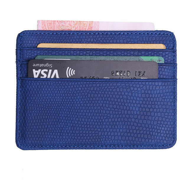 7c8141352946 2018 NEW Lichee Pattern Bank Card Package Coin Bag Card Holder Travel Leather  Men Wallets Women Credit Card Holder Cover