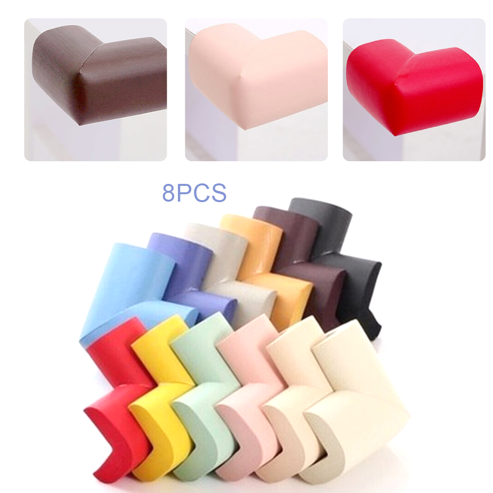 8 Pcs/Lot Child Protection Corner Soft Baby Safety Table Desk Corner Protector Security Baby Right Angle Edge Guards Protector