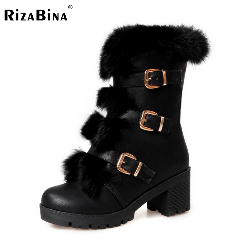 women high heel half short boots thickened fur warm winter plush mid calf snow boot woman botas footwear shoes P21994 size 34-39 prova perfetto brown women genuine leather high heel boot platform mid calf high boots buckle straps martin botas shoes woman