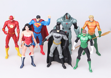 17cm Justice league superman flash batman action figure toys 7pcs/set