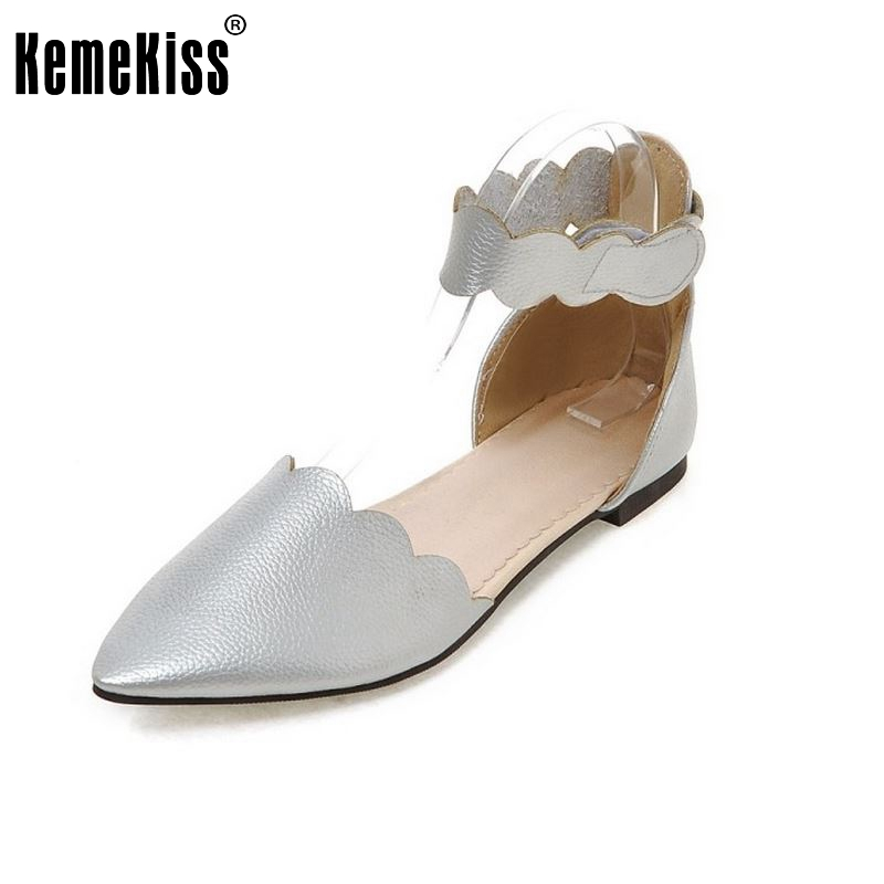 Size 33-43  Women's Sandals Summer Fashion Summer Shoes Women Sandals Pointed Toe Ladies Flat Heel Casual Ruffles Shoes PA00898 flock women flats 2017 pointed toe ladies single shoes fashion shallow casual shoes plus size 40 43 small yards 33 sapatos