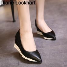 Women Platform Pumps Wedge Womens Comfortable High Heels 2019 Spring Autumn Fashion Female Ladies Shoes Zapatillas Mujer