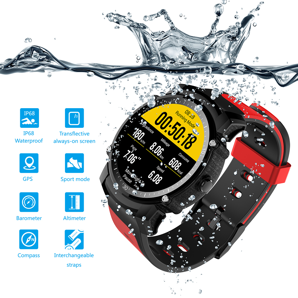 ZAOYIMALL FS08 GPS Smart Watch IP68 Waterproof Bluetooth 4.0 Heart Rate Fitness Tracker Sports Hear Rate Monitor Smartwatch fs08 gps smart watch mtk2503 ip68 waterproof bluetooth 4 0 heart rate fitness tracker multi mode sports monitoring smartwatch