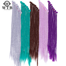 WTB 20 inch Dreadlocks Braids Synthetic Hair Braiding Kanekalon Hair Extensions Twist Braids Darling Soft Dread crochet braids(China)