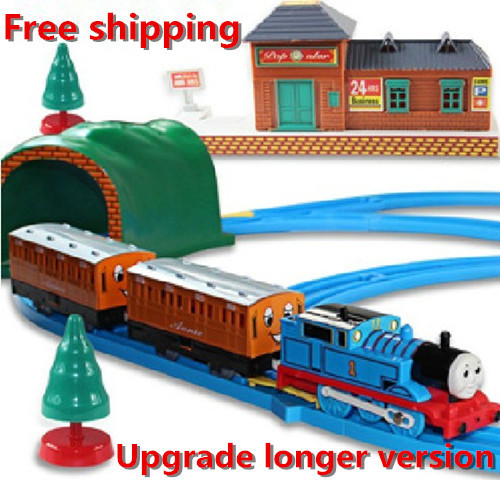 2014 new Large electric track toy, rail cars, Thomas train upgrades, retail, wholesale, free shipping