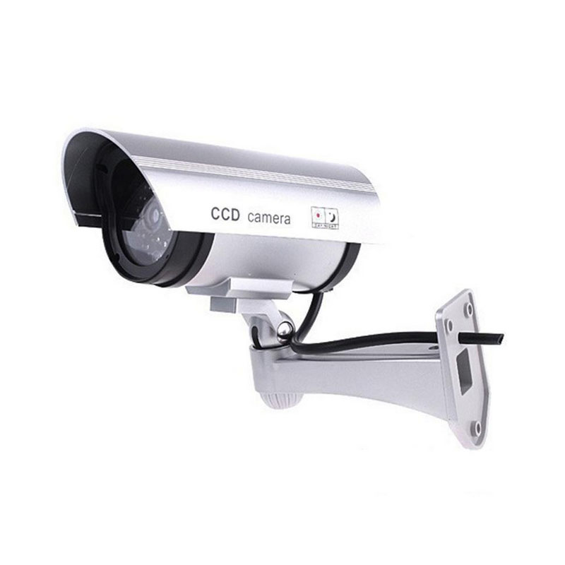 Fake Dummy Camera FC-003 Bullet Survilliance Camera With Blinking Red LED light Outdoor Indoor For Security solar dummy security camera with blinking light silver