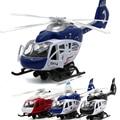 Jefatura de policía de hélice girará helicóptero diecast metal modelo tire hacia atrás acústico-óptica de aleación modelo de avión del muchacho whirlybird toys
