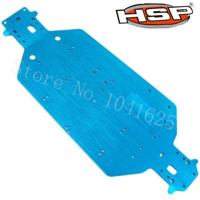 HSP 04001 Aluminum Chassis Metal 6061 For EP RC 1/10 Off Road Buggy Monster Truck 94107 94111 BRONTOSAURUS XSTR Upgrade Parts 02023 clutch bell double gears 19t 24t for rc hsp 1 10th 4wd on road off road car truck silver