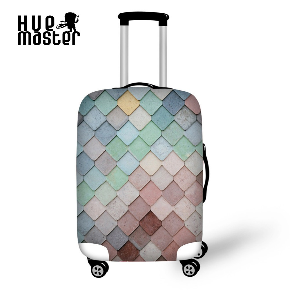 HUE MASTER Luggage case cover travel accessories Suitcase protective cover Spandex material Luggage dust covers for 18-30 inch