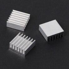 12 Pcs Silver Aluminum Radiator Heatsink Heat Sink Cooling Kit 14x14x6mm
