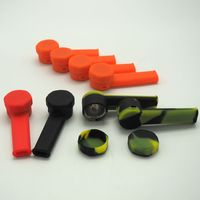 1pcs Hot Sale Small Silicone Tobacco Pipe Weed Smoking Bong ShiSha Hookah Smoking Accessories Tools Bong