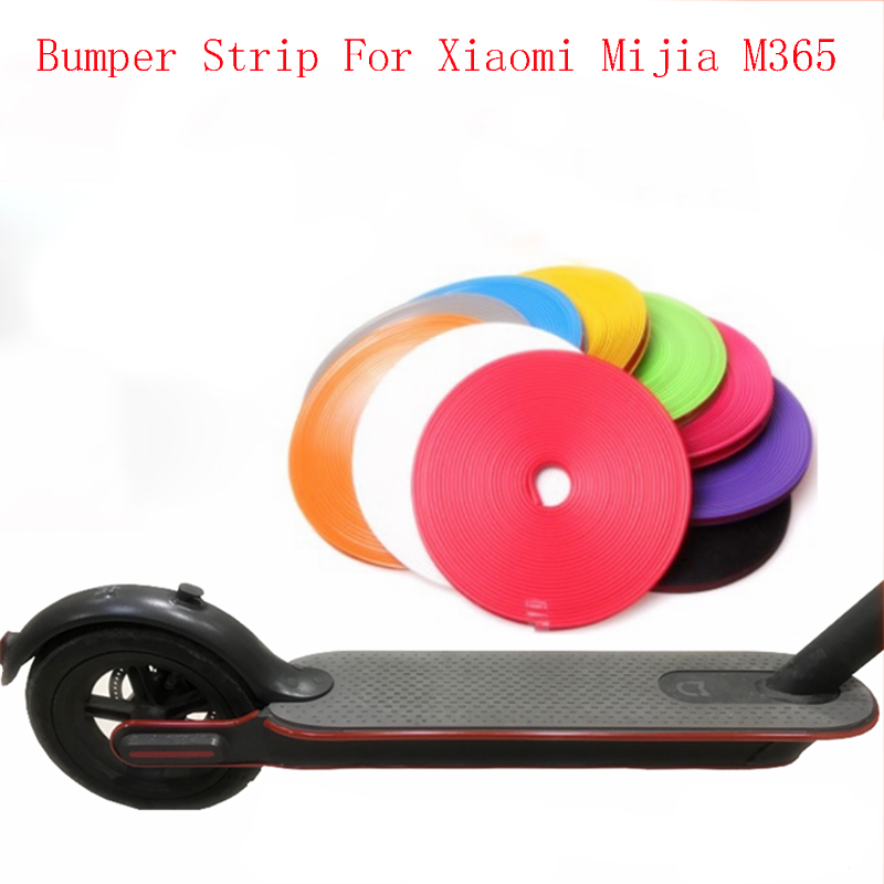 купить Xiaomi Mijia M365 Skateboard Bumper Strip Protective Strip Tape for Xiaomi Scooter Car Scooter Parts Decorative Strips DIY Part по цене 531.76 рублей