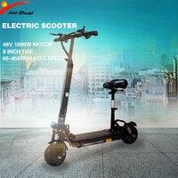 48 в 1000 Вт 45 км/ч Электрический скутер lcd 8 дюймов взрослых складной водонепроницаемый 48V20AH Электрический мотор ховербоуд скейтборд E скутер