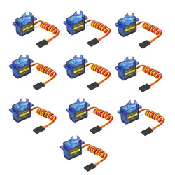 10pcs/lot lofty ambition SG90 9g Mini Micro Servo for RC for RC 250 450 Helicopter Airplane Car Drop Free Shippping DXW90