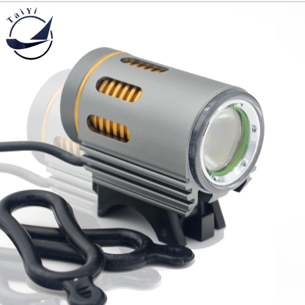 TAIYI साइकिल प्रकाश क्री एल 2 एलईडी फ्रंट लाइट मिनी बाइक लैंप + 6400mAh बैटरी पैक + चार्जर